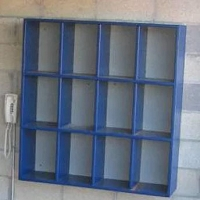 Helmet Rack (12 Helmet Capacity - 3 rows of 4)