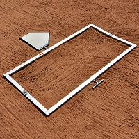 Batter's Box Template (Little League 3'x6')