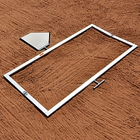 Batter's Box Template (Official 4'x6')
