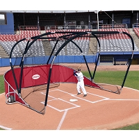 Big League Portable Batting Cage (Red)