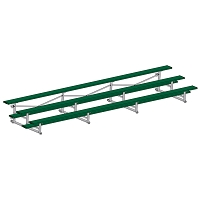 Bleacher - 21' (3 Row - Single Foot Plank) - Tip & Roll - Powder Coated