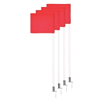 Corner Flags - Deluxe with Spring Loaded Base - (Set of 4)