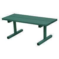 Courtside Bench - 5' - Portable (Double Plank) - Powder Coated