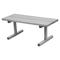 Courtside Bench - 5' - Portable (Double Plank)