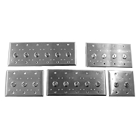 Wall Plate - Key Switches - Ganged