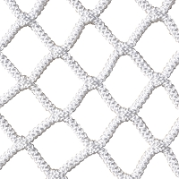 Box Lacrosse Replacement Net - NetX1™ - (7mm) Seamless One-Piece Lacrosse Net (4'H x 4'W x 4'D) (White)