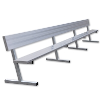 Player Bench with Seat Back - 21' - Portable