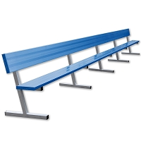 Player Bench with Seat Back - 27' - Portable - Powder Coated