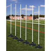 Coaching Sticks - Premium with Rubber base (Set of 6)