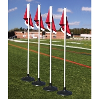 Corner Flags - Premium - with Rubber Base (Set of 4)