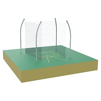 Shot Cage - Field and Track - 34.92 Degree Throwing Sector with Safety Nets