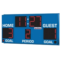 Soccer/Lacrosse Wireless Scoreboard with Digital Indicators