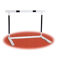 Hurdle with Easy Height Adjustment with Adjustable, Spring-loaded Pullover Weights (Collegiate)
