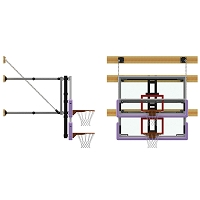 Backstop - Height Adjuster Kit - 8' to 10'  (Electric Adjust)