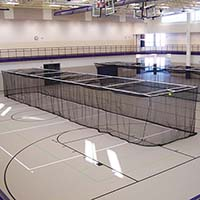 Ceiling Suspended Retractable Batting Cages (Multi-Sport - 3/4