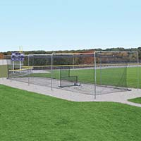 Semi-Permanent Outdoor Batting Tunnel Frame - Single (55')