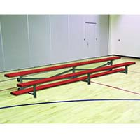 Bleacher - 7-1/2' (2 Row - Single Foot Plank) - Tip & Roll - Powder Coated