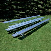 Bleacher - 21' (3 Row - Single Foot Plank) - Standard, Outdoor