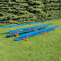 Bleacher - 21' (3 Row - Single Foot Plank) - All Aluminum - Powder Coated