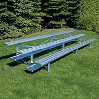Bleacher - 15' (3 Row - Single Foot Plank) - All Aluminum
