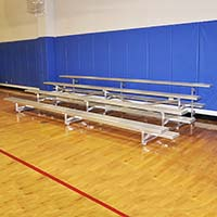 Bleacher - 21' (4 Row - Single Foot Plank) - Tip & Roll