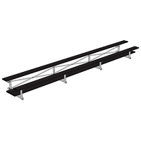 Bleacher - 21' (2 Row - Double Foot Plank) - Tip & Roll - Powder Coated
