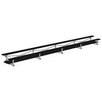Bleacher - 27' (2 Row - Double Foot Plank) - Tip & Roll - Powder Coated