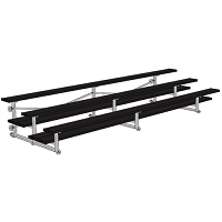 Bleacher - 15' (3 Row - Double Foot Plank) - Tip & Roll - Powder Coated