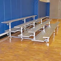 Bleacher - 7-1/2' (4 Row - Double Foot Plank) - Tip & Roll