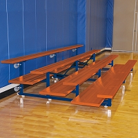 Bleacher - 15' (4 Row - Double Foot Plank) - Tip & Roll - Powder Coated