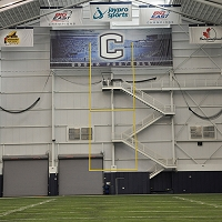 Retractable Motorized Ceiling Suspended Football Goal Post (30' Uprights)