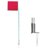 Deluxe Official Corner Flags with Spring - Set of 4