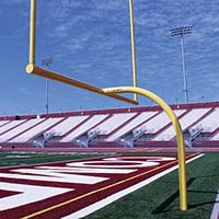 "MAX-1™ Football Goal Post (Leveling Plate - 6'Ox20'U - Collegiate 18' 6"" wide) (Set of 2)"