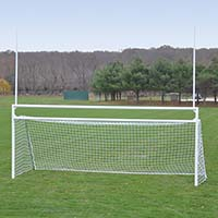 Goals - Soccer/Football (with Standard Backstays) - Deluxe, Official Size (8' H x 24' W x 10' B x 8' D)