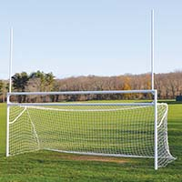 Goals - Soccer/Football (with European Backstays) - Deluxe, Official Size (8' H x 24' W x 10' B x 8' D)