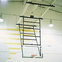 Backboard - Height Adjuster - Double Drop Mount (Electric Adjust with Wand)