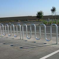 Wave Bicycle Rack (7 Capacity - Surface Mount - Galvanized)