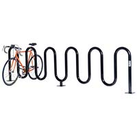 Wave Bicycle Rack (9 Capacity - Surface Mount - Powder Coated)