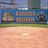 Backstop Wall Padding - Multi-Color Artwork