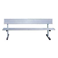Player Bench with Seat Back - 27' - Surface Mount