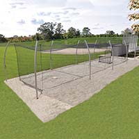 Professional Outdoor Batting Tunnel Frame - Single (55')