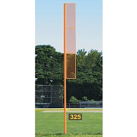 20' Collegiate Foul Pole (Softball - Semi/Perm - Orange)