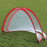 Soccer Pop-Up Trainer with Bag (4'W x 2-1/2'H x 2-1/2'D) (Red)