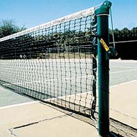 "3-1/2"" Heavy-Duty Tennis Posts (Green) (Set of 2)"