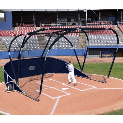 Big League Portable Batting Cage (Navy Blue)