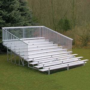 Bleacher - 21' (10 Row - Single Foot Plank with Guard Rail) - Enclosed