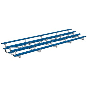 Tip & Roll Bleachers (27' Single Foot Plank - 4 Row - Powder Coated)