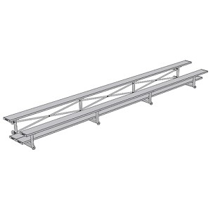 Tip & Roll Bleachers (21' Double Foot Plank - 2 Row)