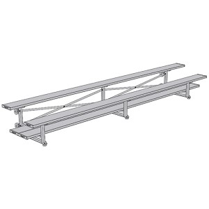 Tip & Roll Bleachers (15' Double Foot Plank - 2 Row)