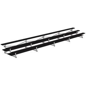 All Aluminum Bleachers (27' Double Foot Plank - 3 Row - Powder Coated)